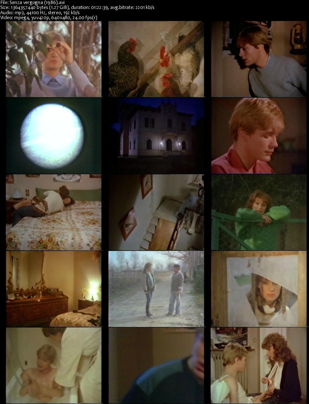 Senza vergogna (1986) Screenshot